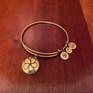Alex and Ani Friend Charm Bangle Bracelet in Gold